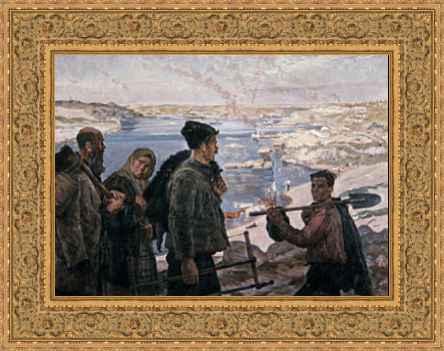 Constructeurs Du Dniepr Hydro 1937 Peinture De K