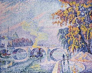 Ca s'est passé en août ! Paul_Signac_-_Pont_Royal_Autumn_Pont_Royal_Automne_1930_-_(MeisterDrucke-822923)