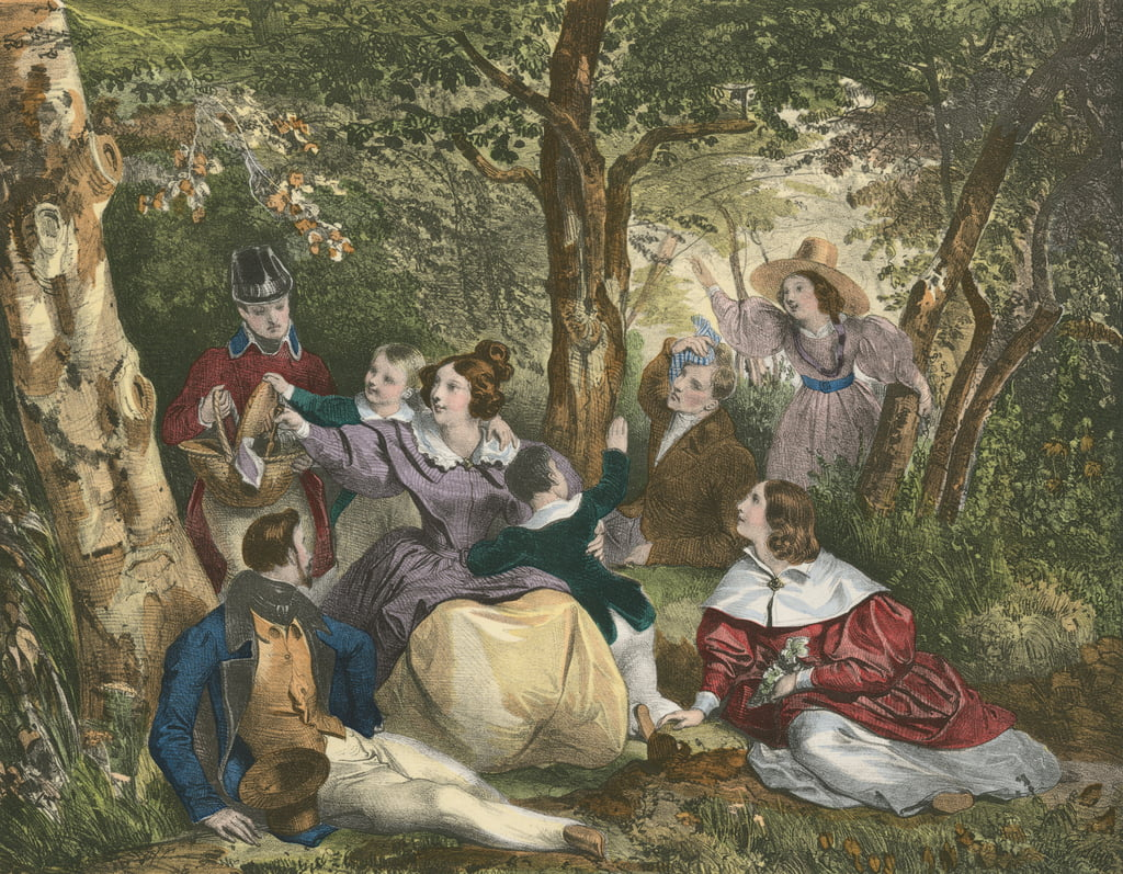 La Partie de Campagne, The Country Excursion  - Achille Deveria