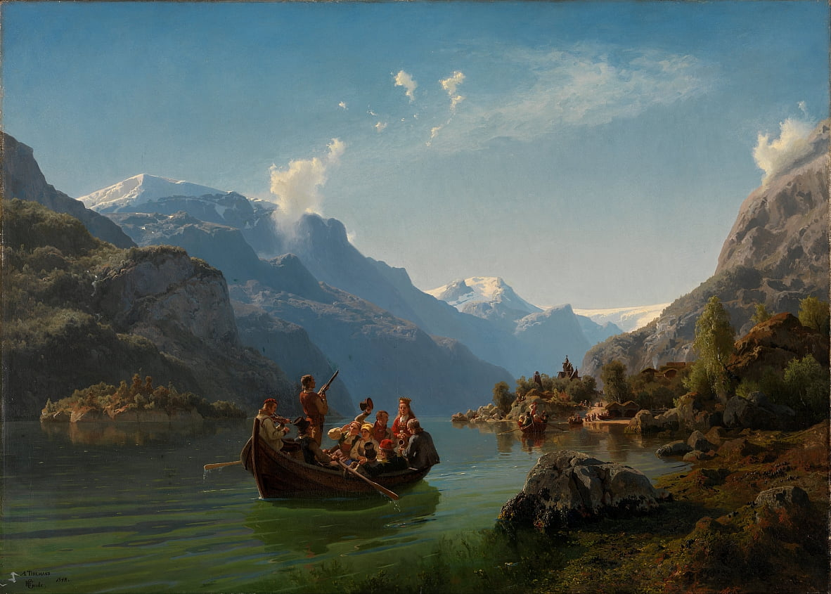 Voyage nuptiale à Hardanger - Adolph Tidemand