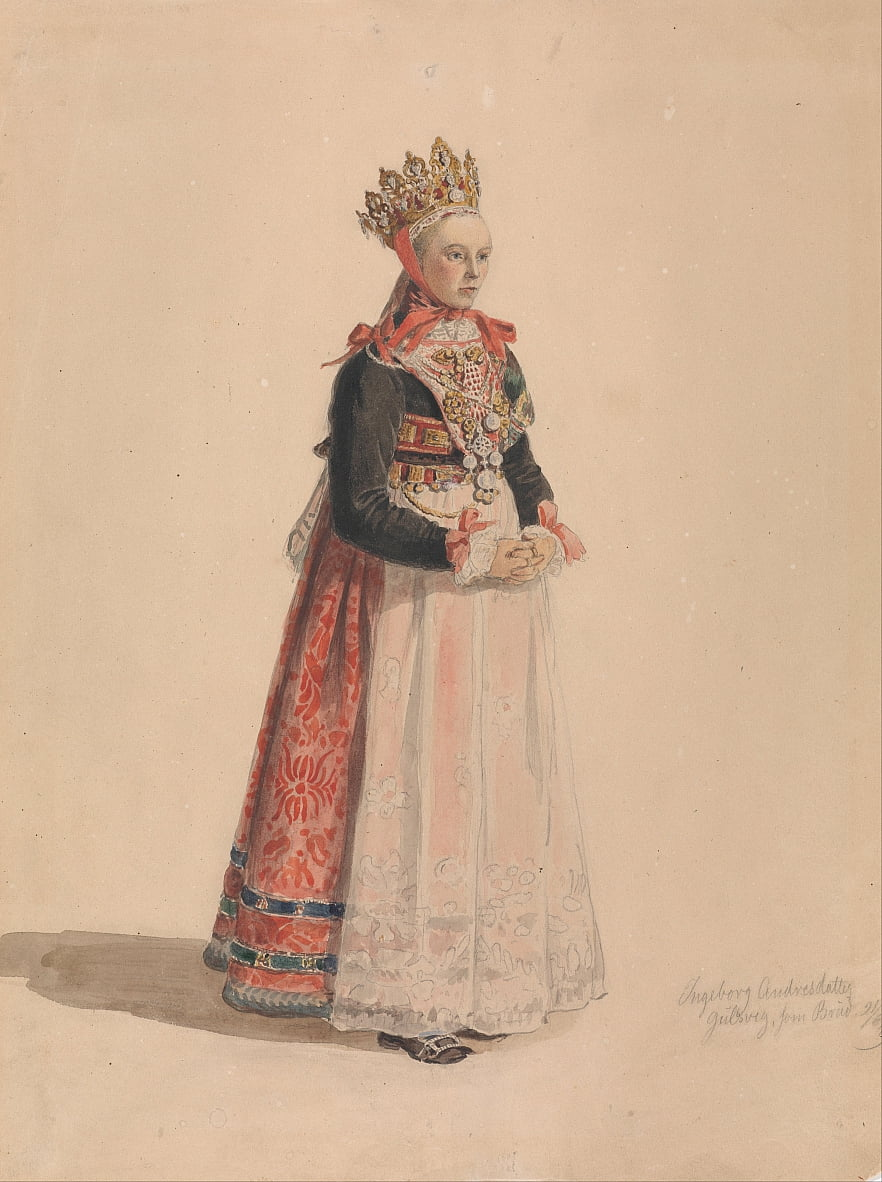 Ingeborg Andresdatter Gulsvik as Bride - Adolph Tidemand
