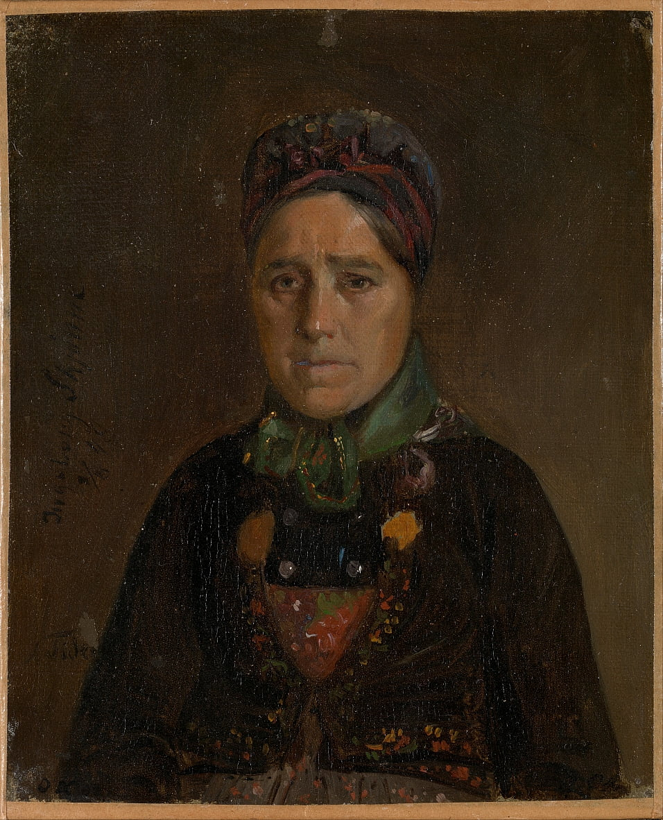 Portrait dIngeborg Belle de Numedal - Adolph Tidemand