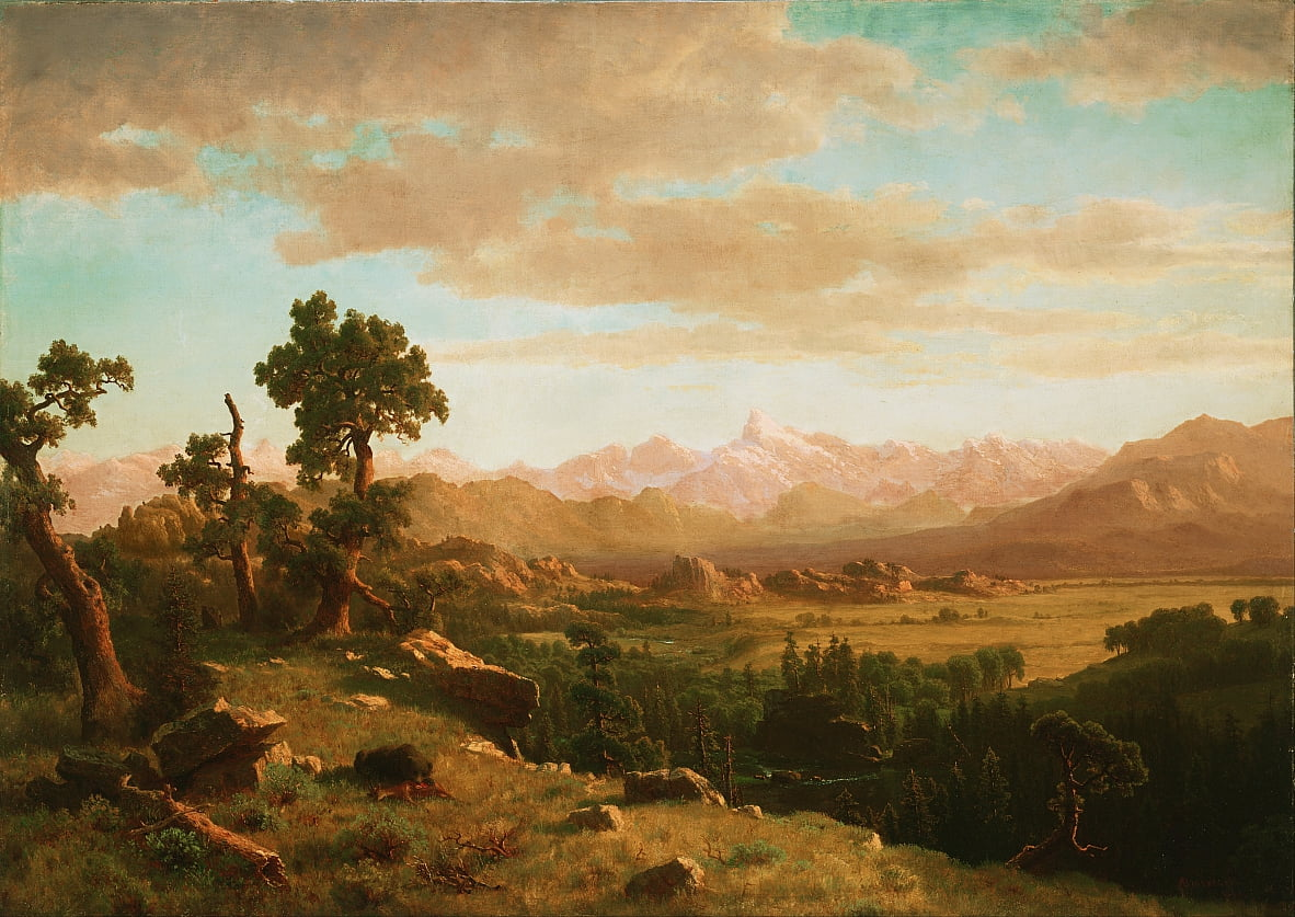 Wind River Country - Albert Bierstadt