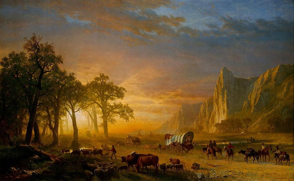 Emigrants traversant les plaines - Albert Bierstadt
