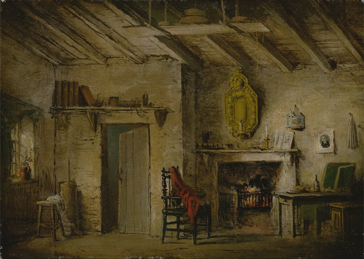 Conception de scène pour Heart of Midlothian; Deans Cottage - Alexander Nasmyth