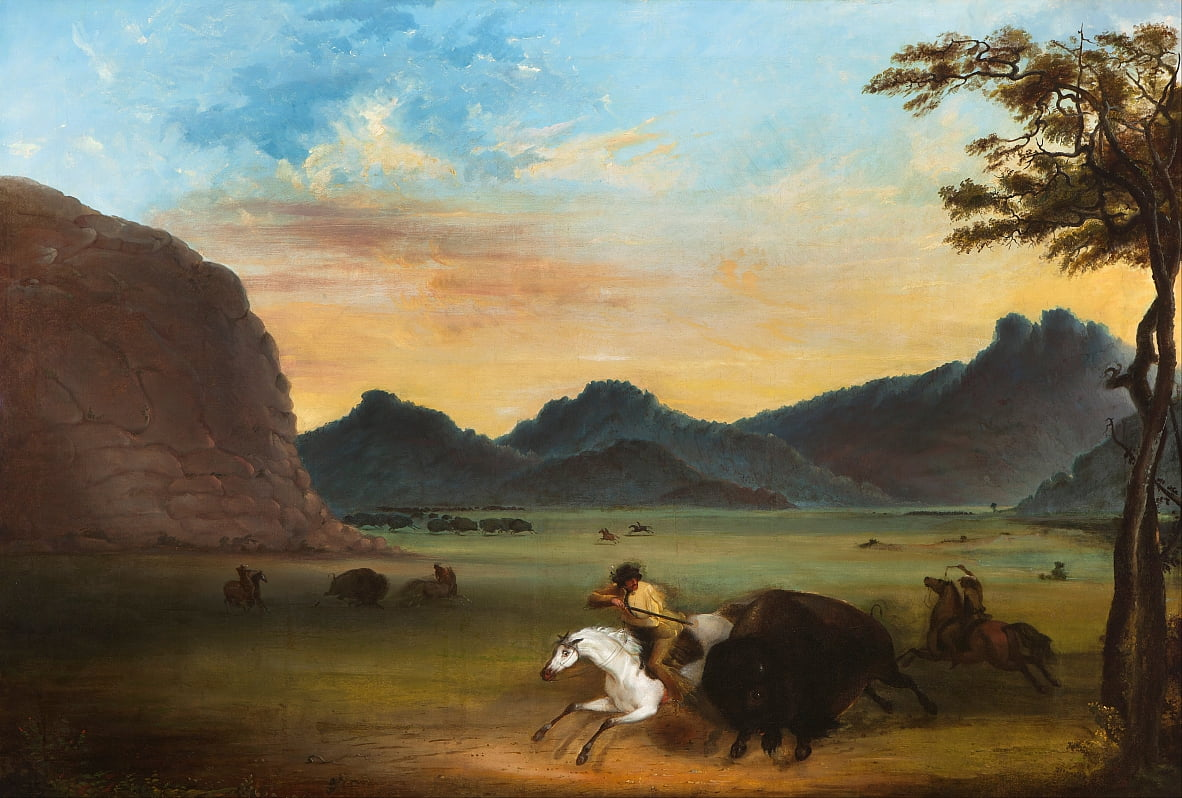 Buffalo Hunt - Alfred Jacob Miller