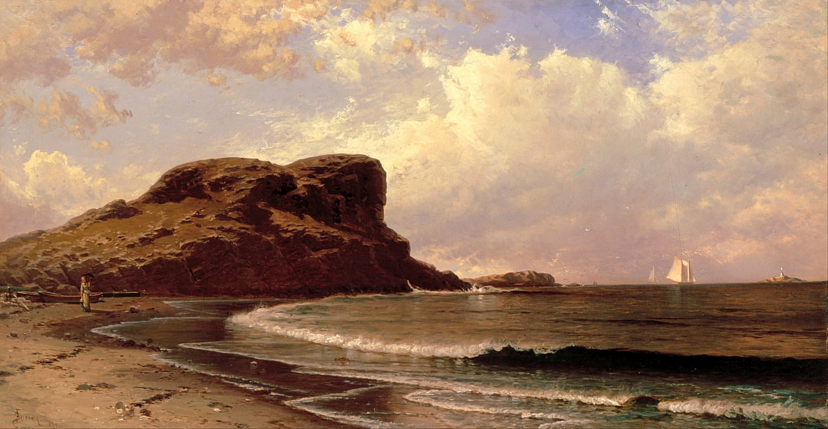 Castle Rock, Nahant, Massachusetts - Alfred Thompson Bricher