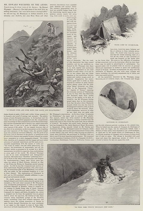 M. Edward Whymper sur les Andes - Alfred Courbould