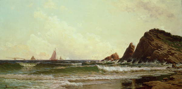 Falaises de Cape Elizabeth, port de Portland, Maine, 1882 - Alfred Thompson Bricher