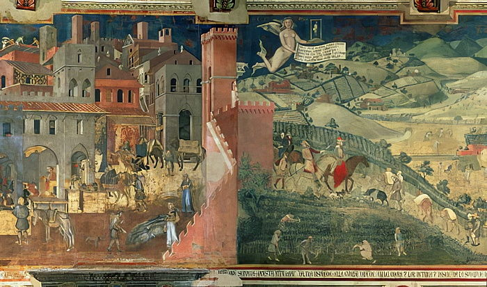Effets du bon gouvernement, c.1338 - Ambrogio Lorenzetti
