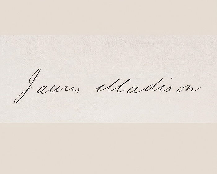Signature de James Madison - American School