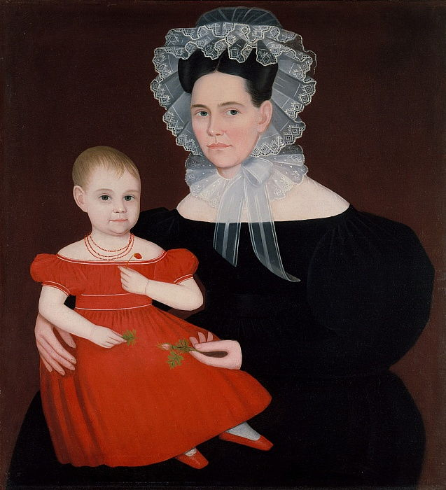 Mme Mayer et sa fille, 1835-1840. - Ammi Phillips