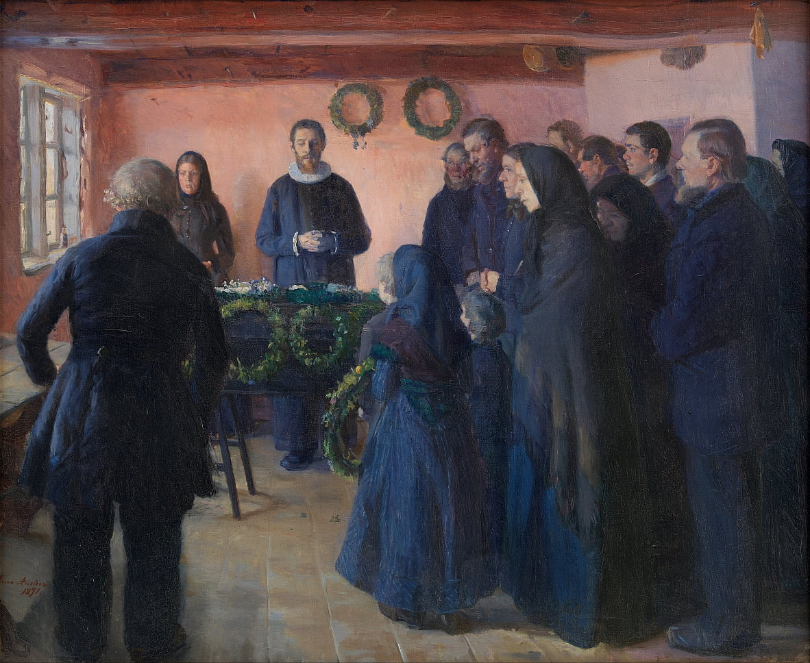 Un enterrement - Anna Ancher