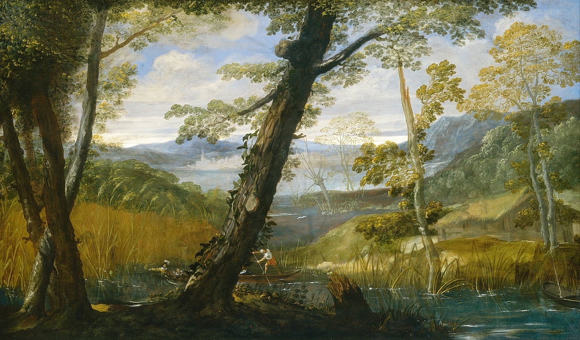Paysage fluvial - Annibale Carracci