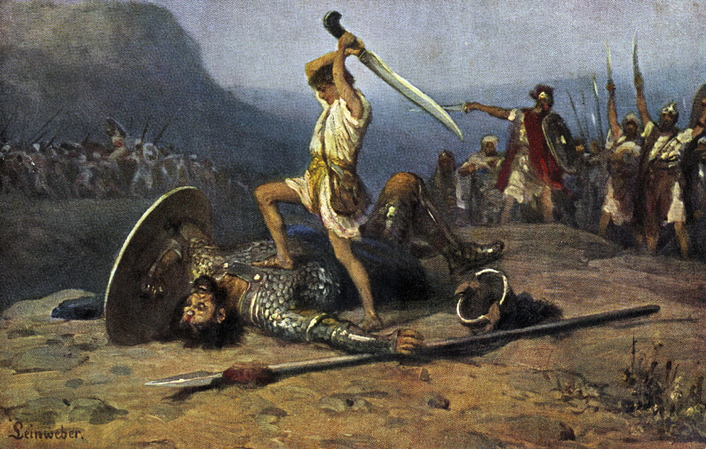 David et Goliath - Bible - Anton Robert Leinweber