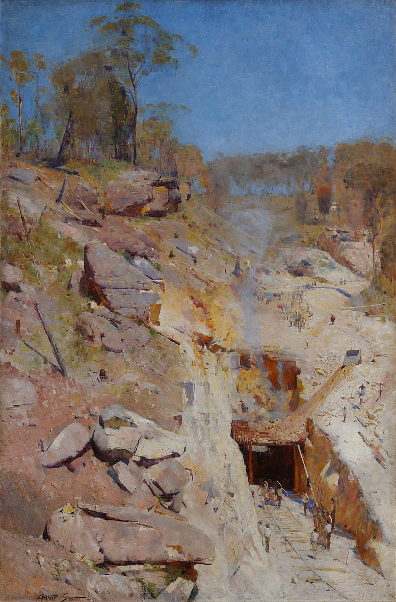 Incendies sur - Arthur Streeton