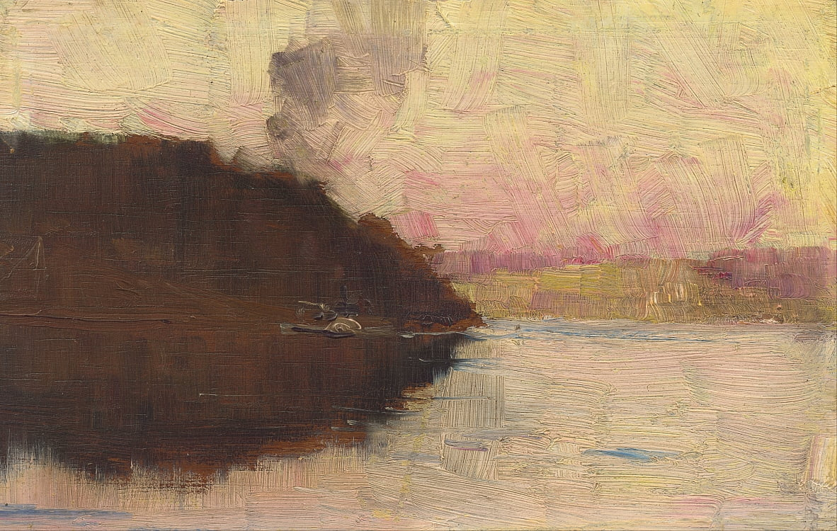 Le point, le coucher du soleil - Arthur Streeton