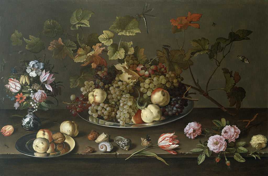 Nature morte de fruits, de fleurs et de coquillages - Balthasar van der Ast