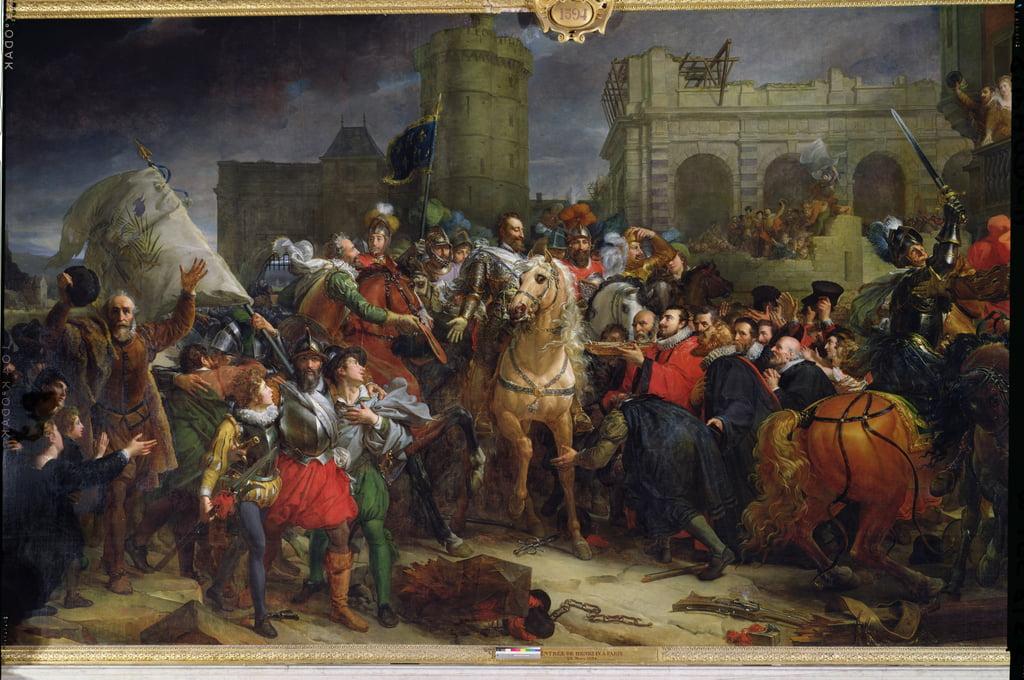 L&39;entrée d&39;Henri IV (1553-1610) à Paris, le 22 mars 1594 - Baron François Pascal Simon Gérard