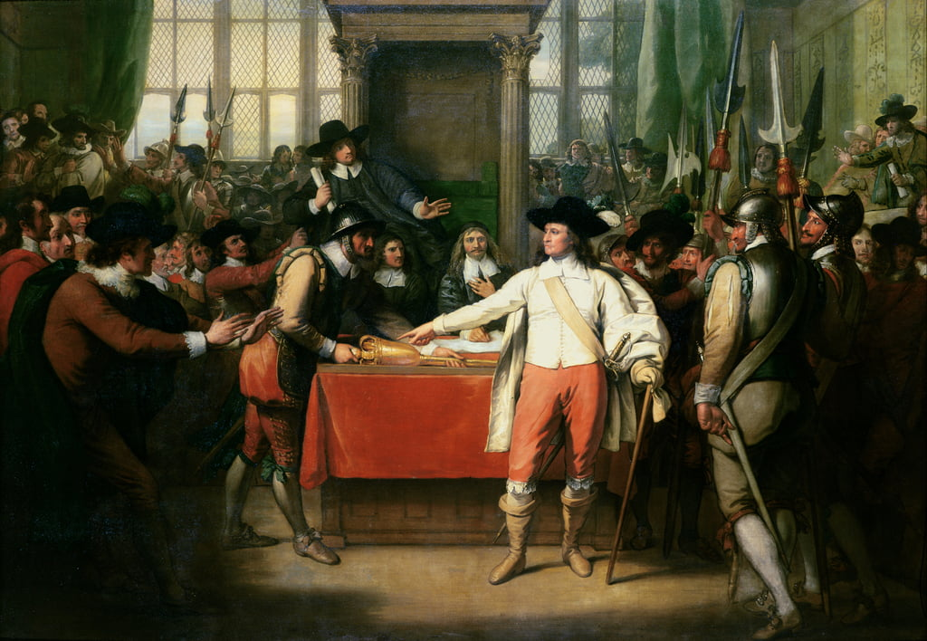 Cromwell dissout le long Parlement - Benjamin West