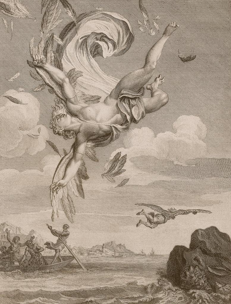 La chute d'Icare, 1731 - Bernard Picart