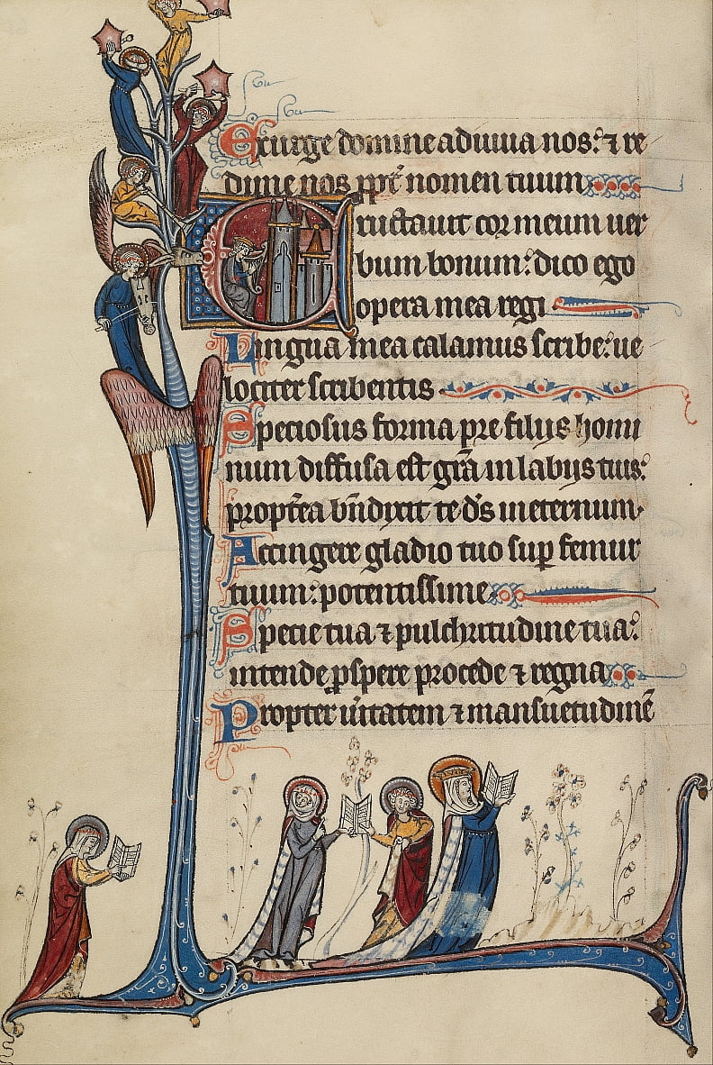 Initial E: David Playing the Harp - Bute Master