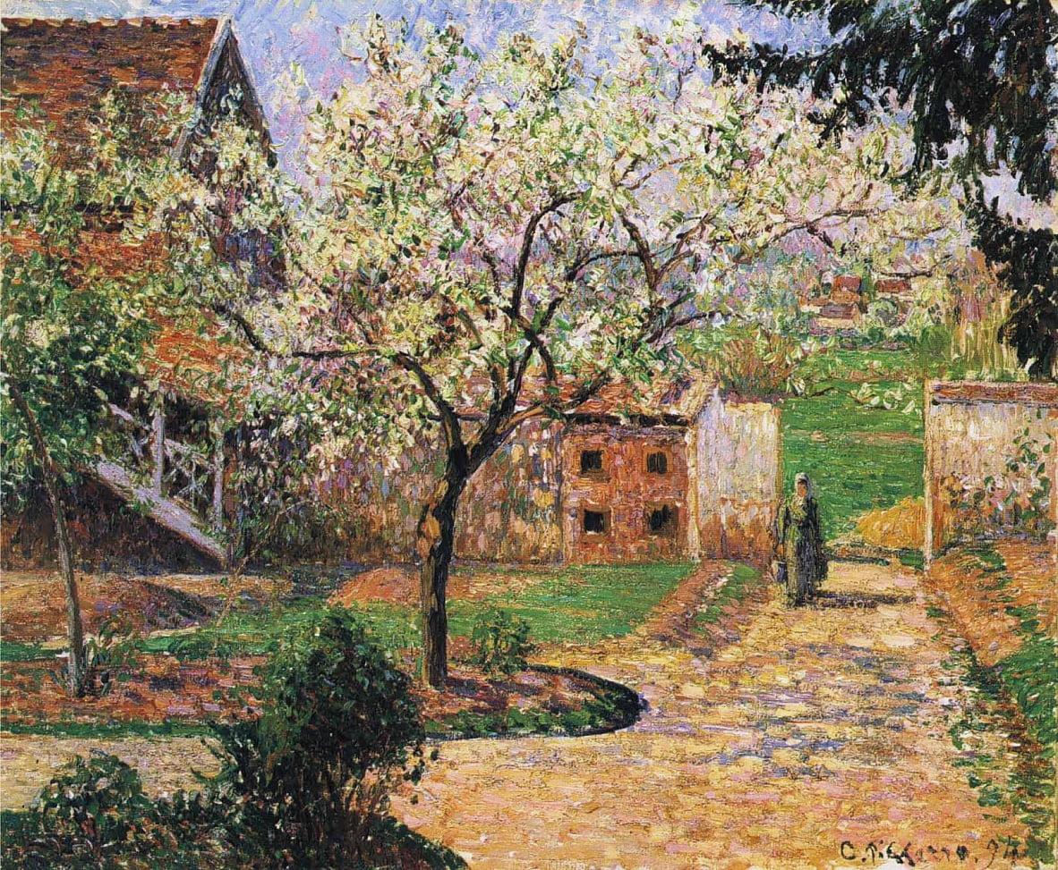 Floraison de prunier, Eragny - Camille Jacob Pissarro