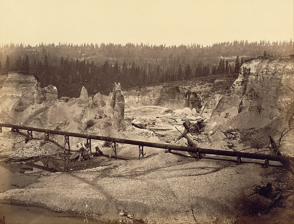 Malakoff Diggings, North Bloomfield, Californie - Carleton E. Watkins