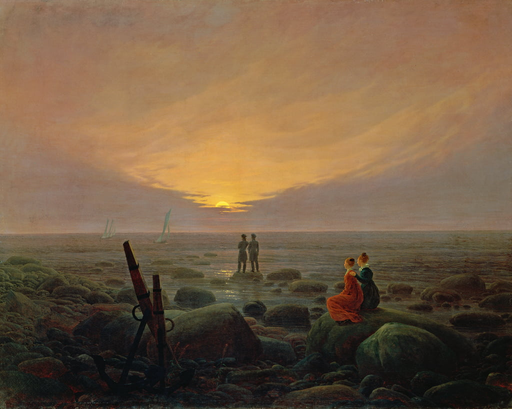 Moon Rising Over the Sea, 1821 - Caspar David Friedrich