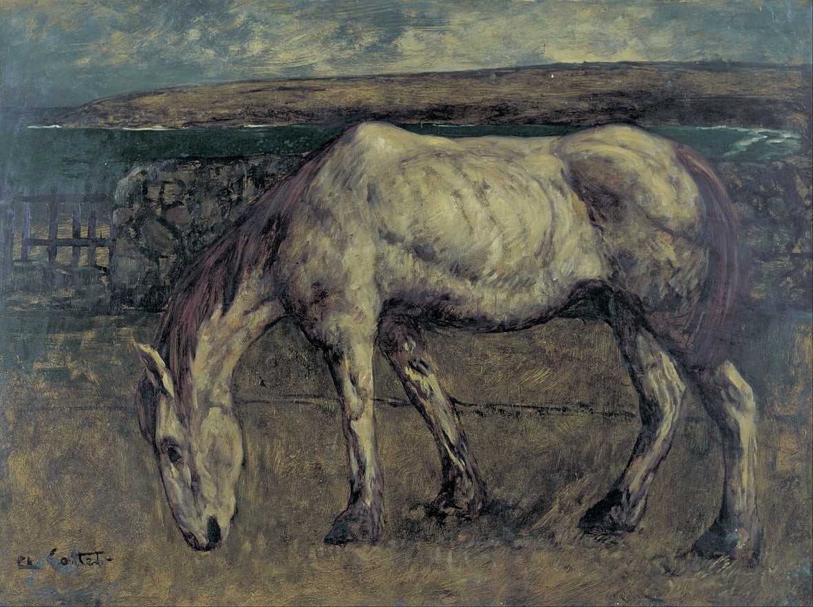 Old Horse in the Wasteland - Charles Cottet