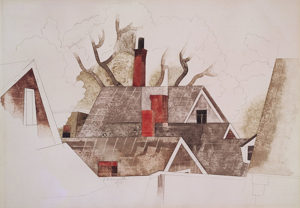 Cheminées rouges - Charles Demuth