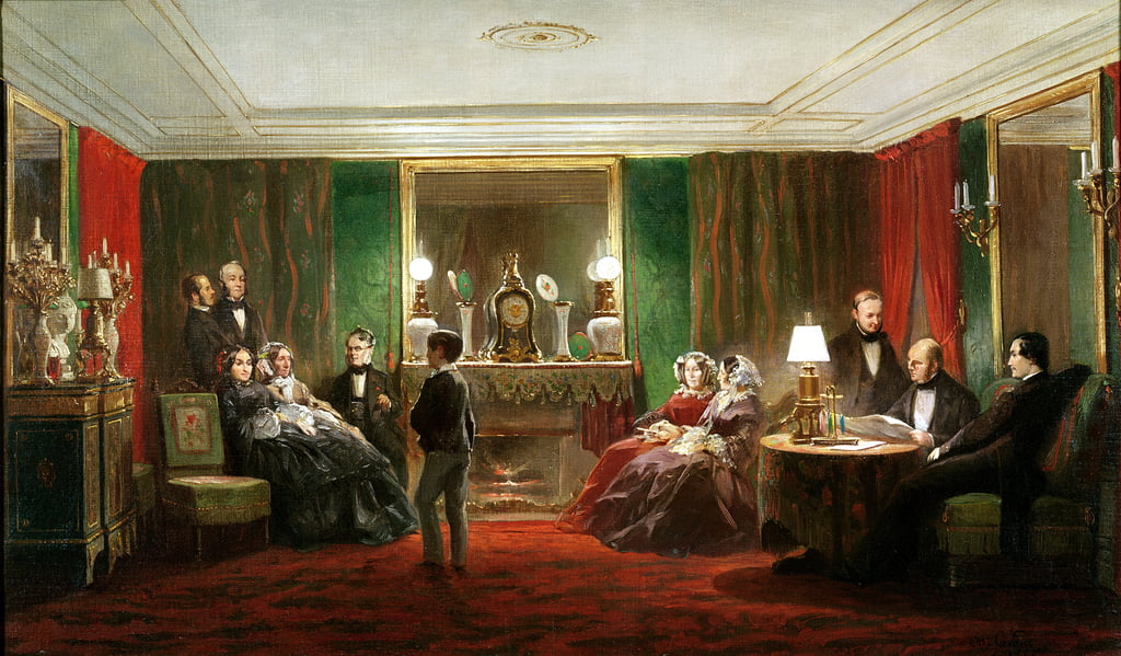 Interior of a Salon on Rue de Gramont, 1858  - Charles Giraud