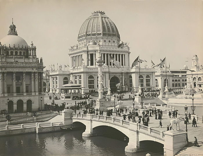 Bâtiment administratif de l&39;Exposition Universelle Colombienne, Chicago, 1893 - Charles Dudley Arnold