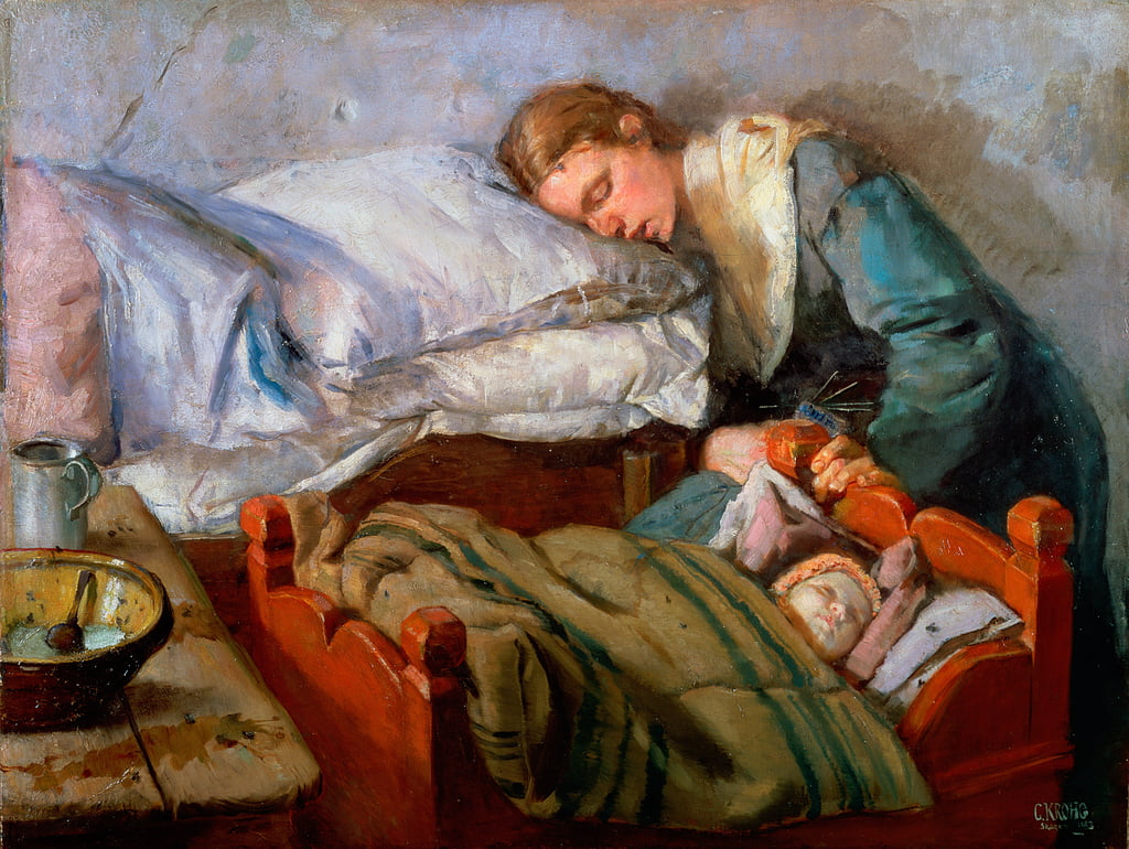 Sleeping Mother, 1883 - Christian Krohg