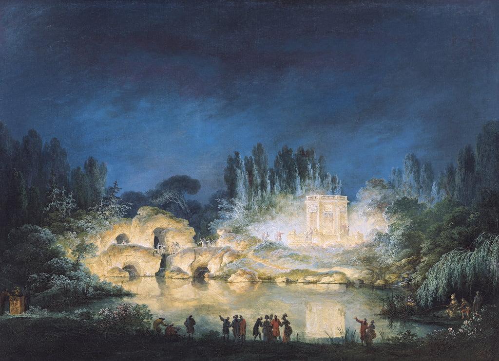 Illumination du Belvédère au Petit-Trianon, 1781...