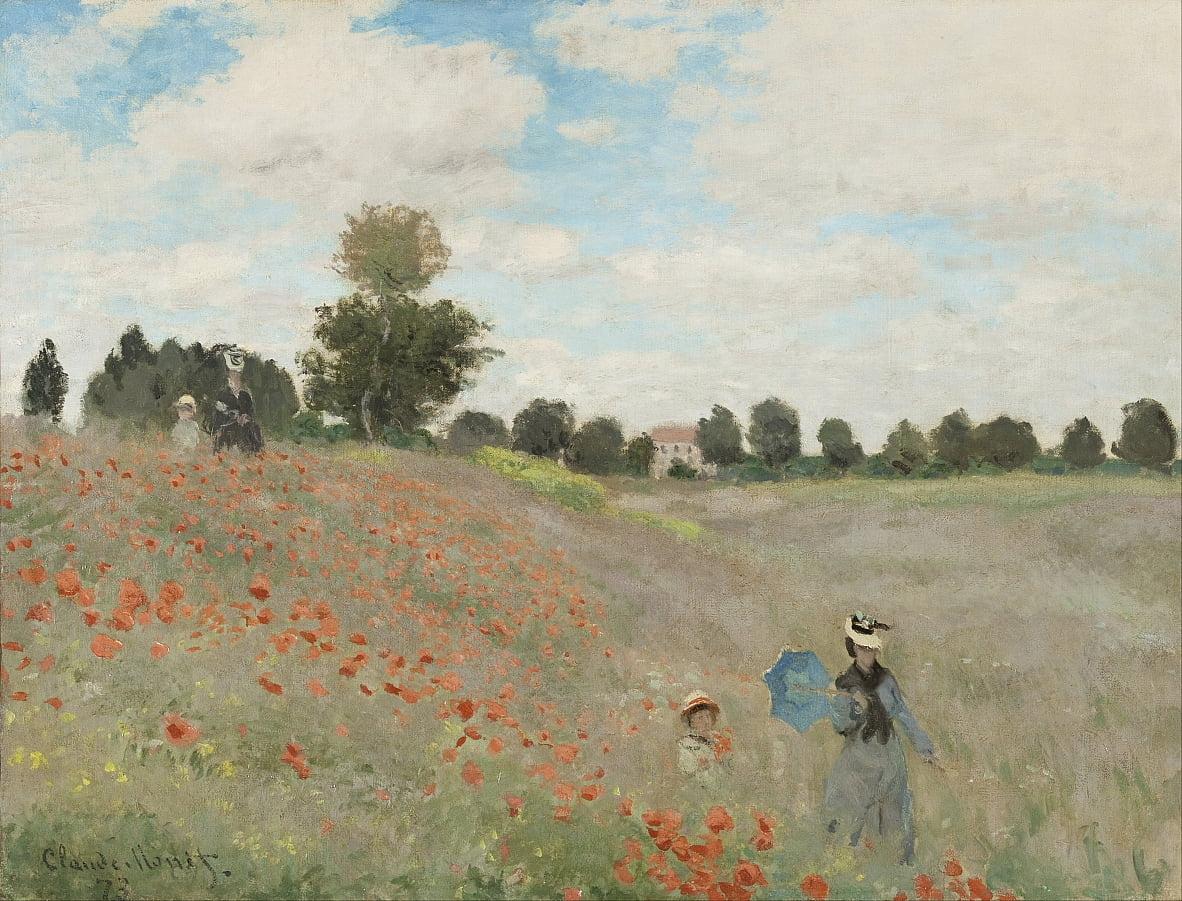 Champ de coquelicots - Claude Monet
