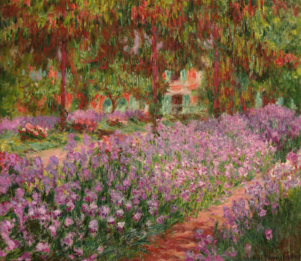 Le jardin de Giverny, 1900 - Claude Monet