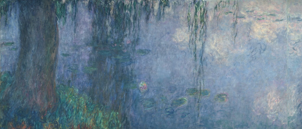 Waterlilies: Morning with Weeping Willows, détail de la section de gauche, 1914-18 (voir aussi 71321-22) - Claude Monet