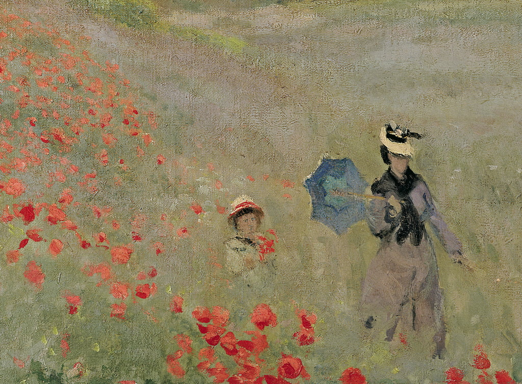 Wild Poppies, near Argenteuil (Les Coquelicots: environs dArgenteuil), 1873  (detail of 7998) - Claude Monet