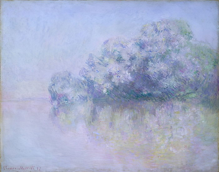 Île aux Orties near Vernon, 1897  - Claude Monet