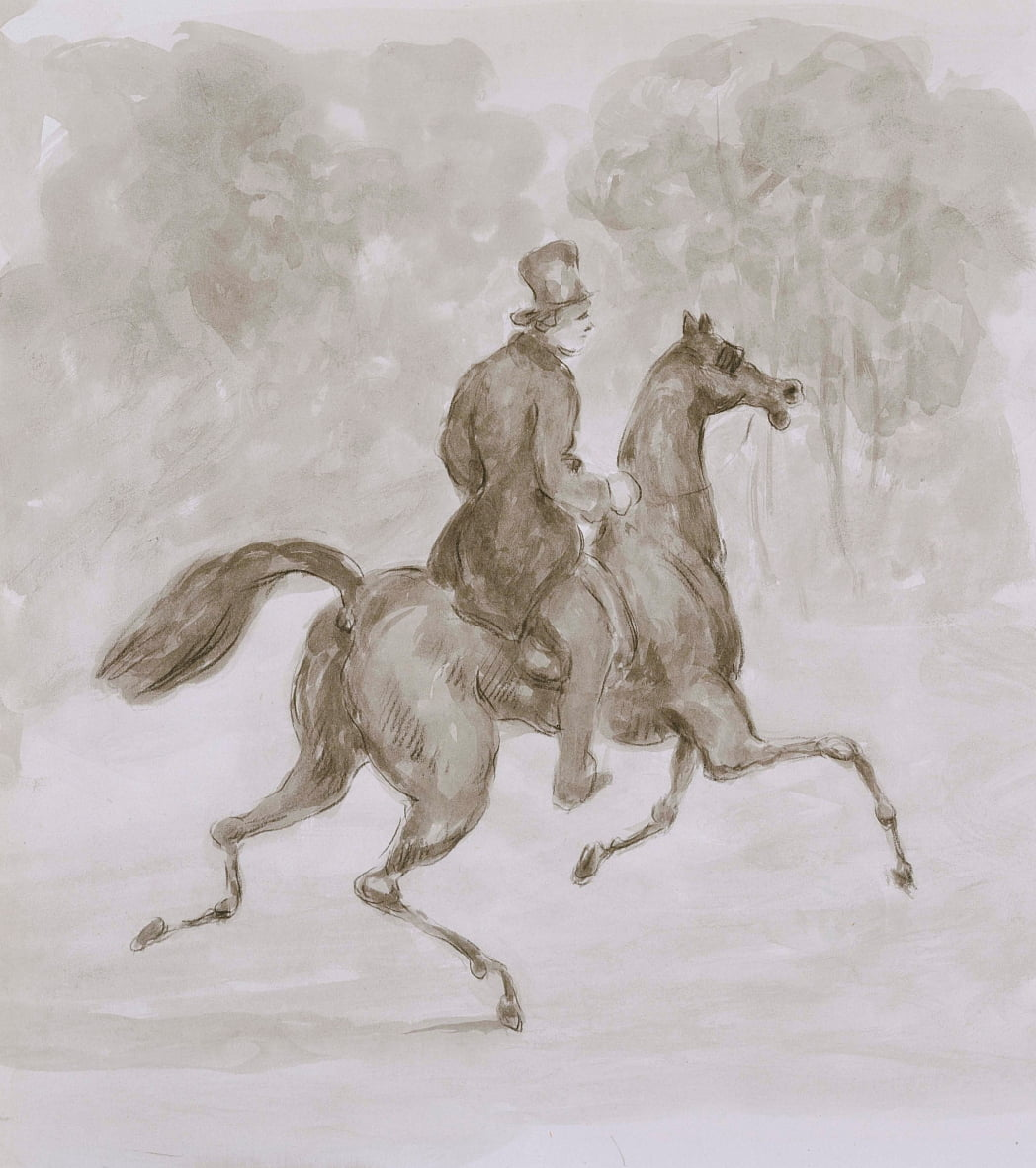 Man on Trotting Horse - Constantin Guys