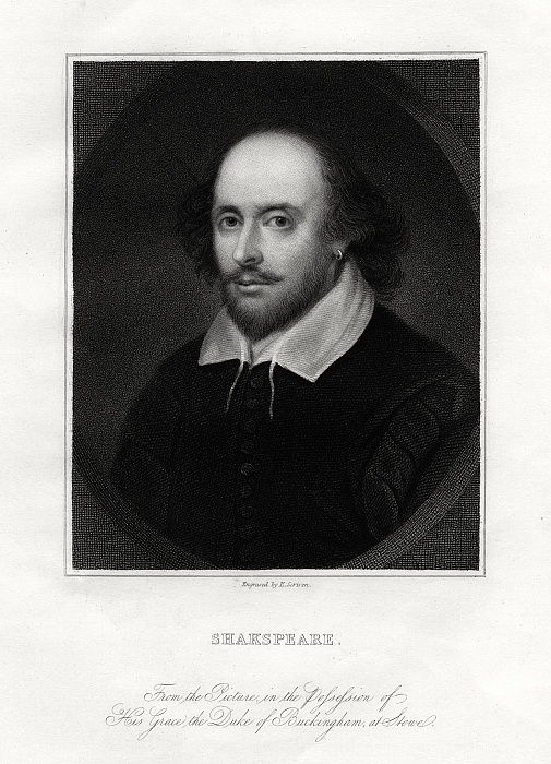 William Shakespeare, dramaturge anglais, 19e siècle. - E. Scriven