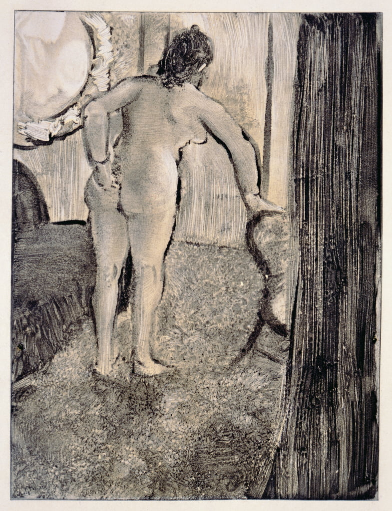 Illustration from La Maison Tellier by Guy de Maupassant (1850-93) engraved by Maurice Potin, 1933  - Edgar Degas
