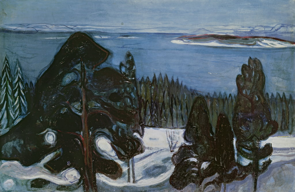 Nuit d'hiver, vers 1900 - Edvard Munch