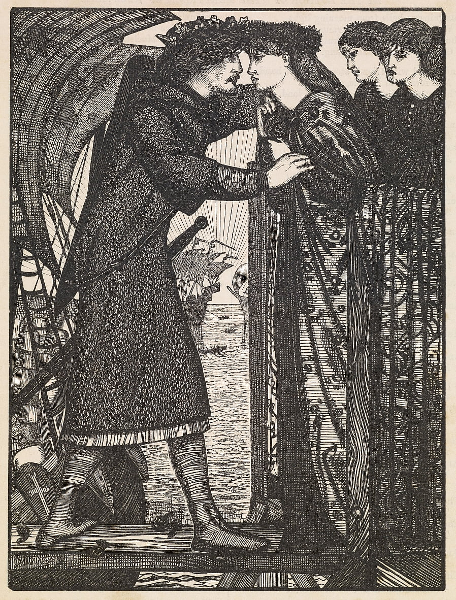 Roi Sigurd le Croisé - Edward Burne Jones