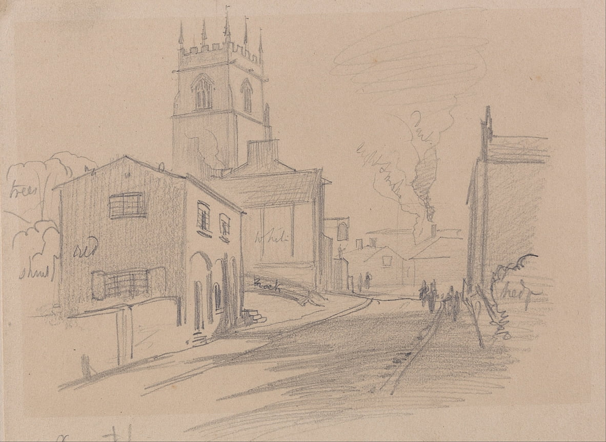Anglais Country Town - Edward Lear
