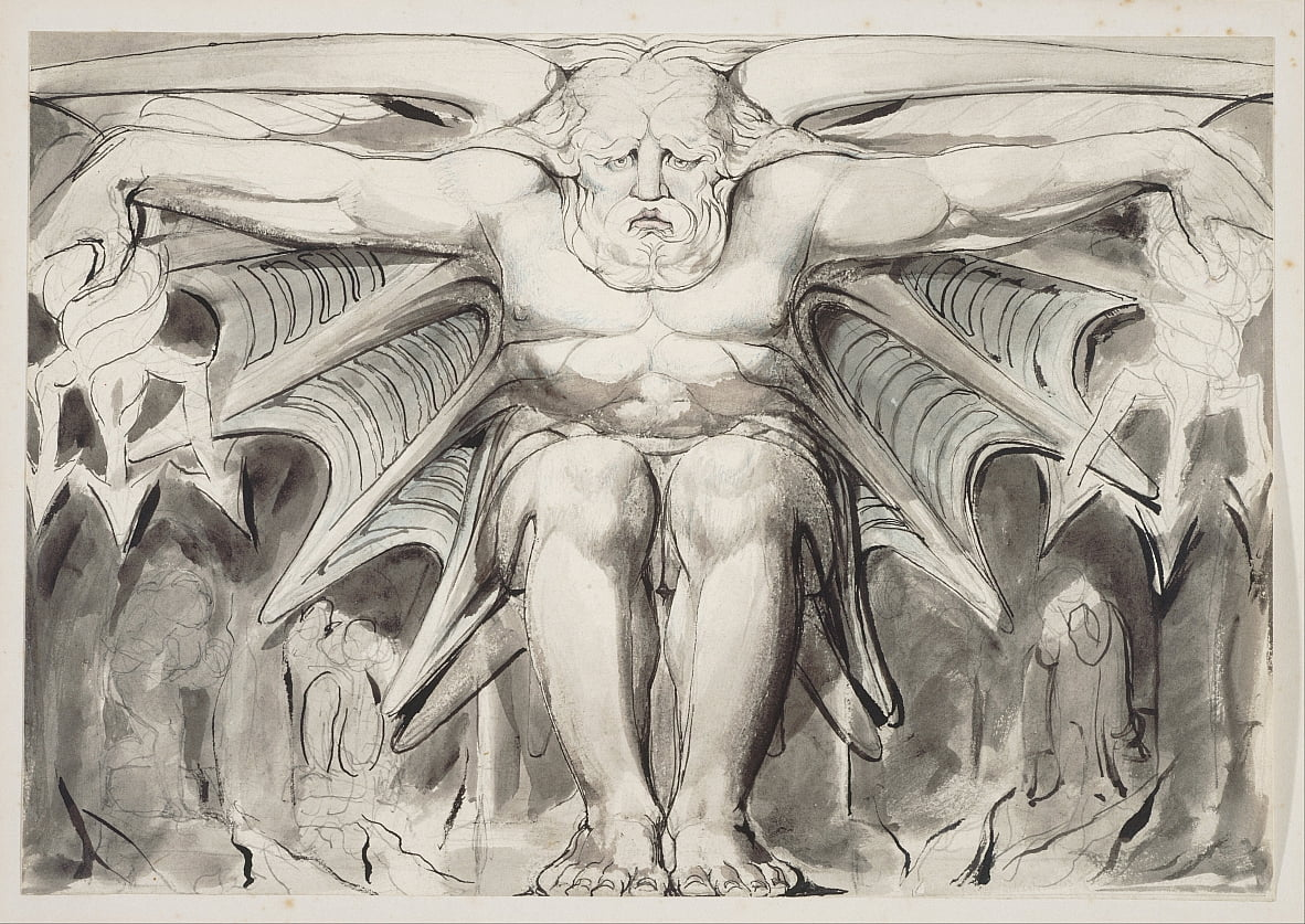 Une déité destructrice - William Blake