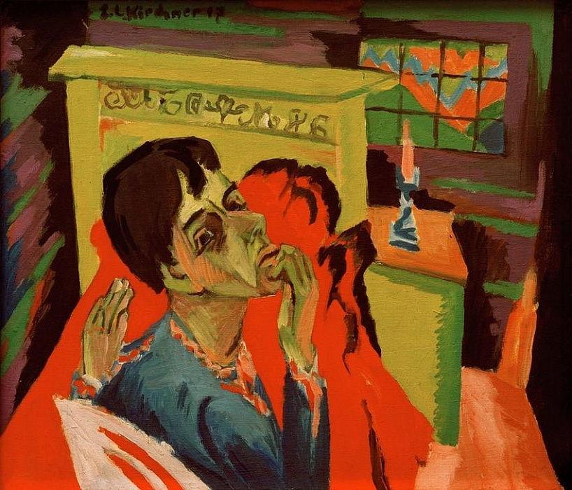 Autoportrait en tant que malade - Ernst Ludwig Kirchner