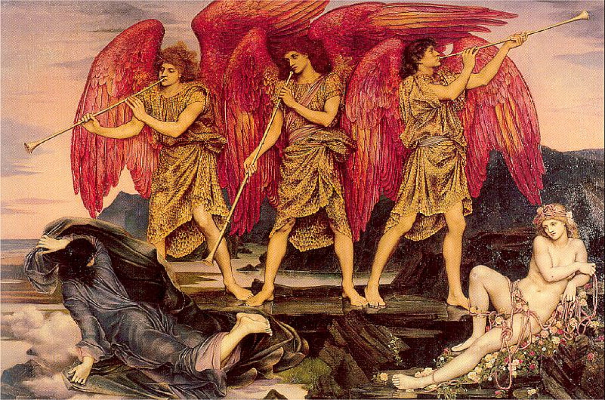 Aube triumphans aka Aube - Evelyn De Morgan