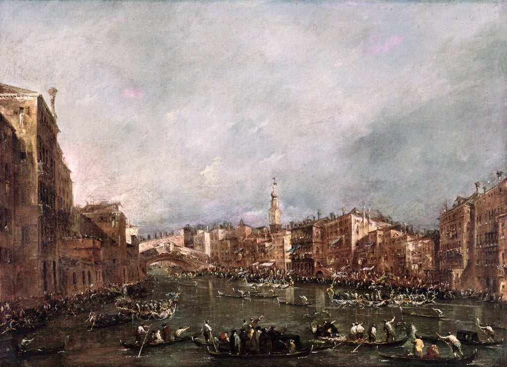 Une régate sur le Grand Canal, Venise - Francesco Guardi